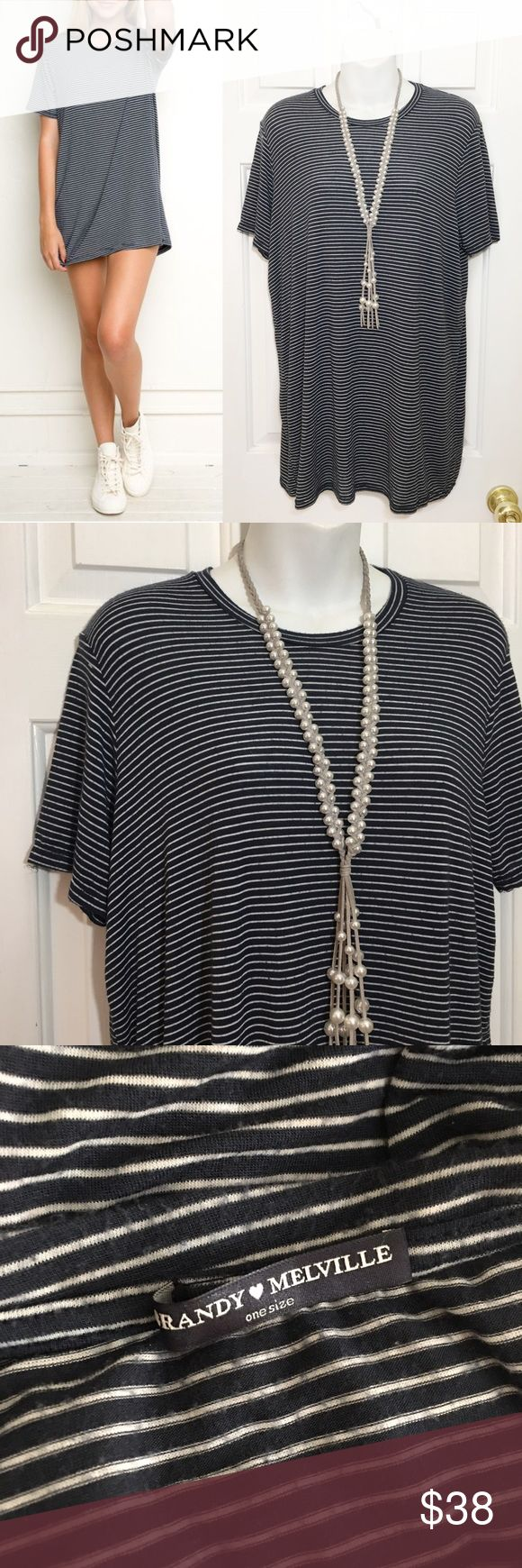 вяαи∂у мєℓνιℓℓє - Striped Tshirt Dress Pair with a cardigan for the cooler months!  ☞ ℓσωєѕт?  Prices are firm unless offer is reasonable  Bundle option is available   ☞ мσ∂єℓ? I do not model my items Comment with specific measurement requests Please allow 2-3 days for request fulfillments   ☞ яєѕєяνє? тяα∂є?  I do not reserve or trade items Brandy Melville Dresses
