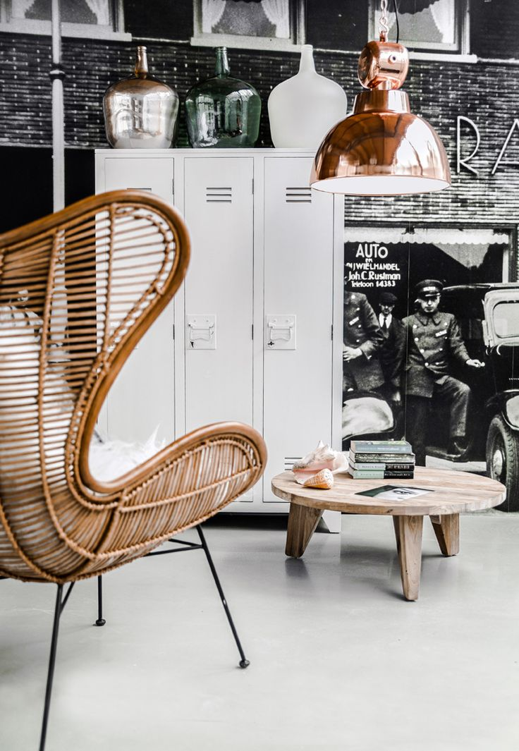 Gave industriële kast voor in de woon- of slaapkamer! #livingroom #industrial