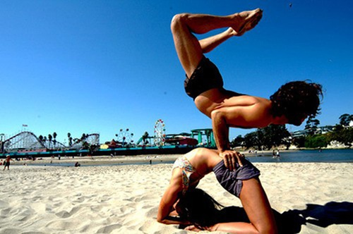 <3: At The Beaches, Make Art, At Home, Beaches Yoga, Partners Yoga, Namaste, Couple Yoga, Running Quotes, Weights Loss