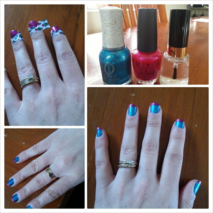 Chanelle Wilson with a multi colour french mani