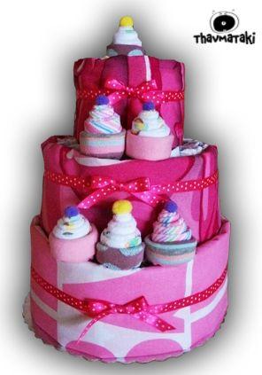 http://thavmataki.gr/eshop/topsy-turvy-diaper-cakes.html Πανέμορφες Topsy Turvy Diaper Cakes, ήρθαν για να πείτε ΟΥΑΟΥ!