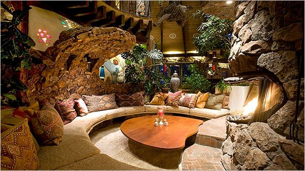 FUNKY SHAPE. 1970s Cave Home in Aspen. 1/8/2012 via NYTimes.com