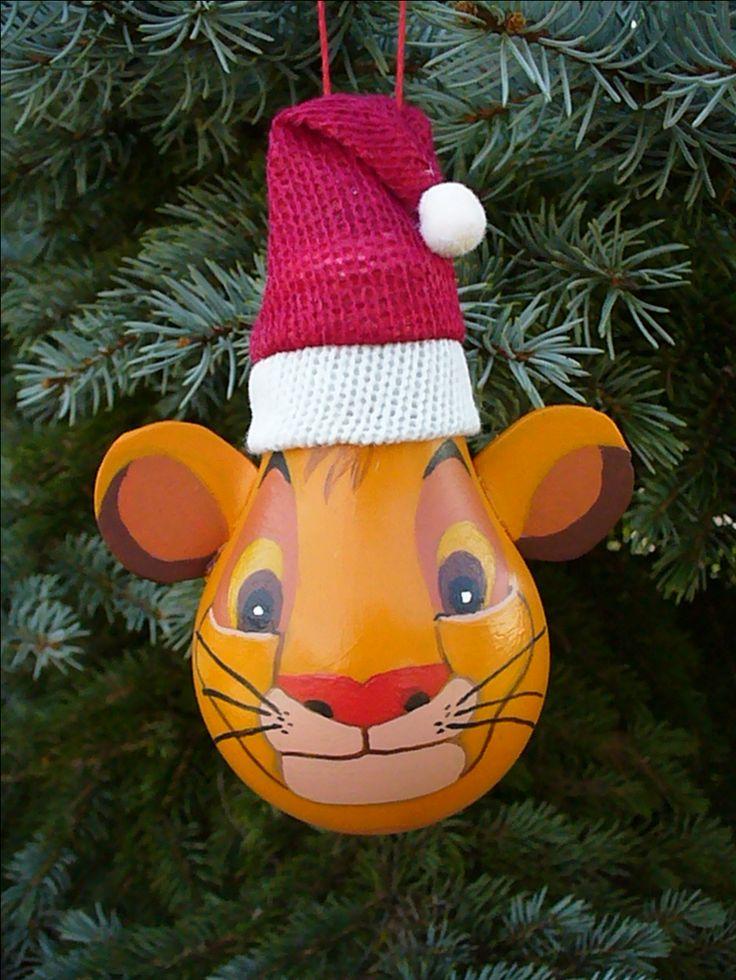 Simba lightbulb ornament - Handmade - designed by CAyers