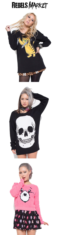 Shop alternative women's sweaters at RebelsMarket!