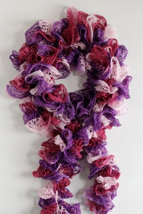 Crocheting Ruffles : Crochet-A-Day: Crochet Ruffles Scarf Pattern Crochet Scarfs, Scarf ...
