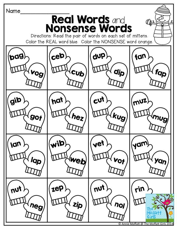 real words and nonsense words great practice for decoding