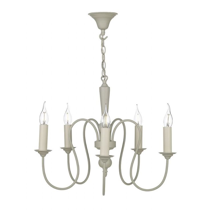 Therese 5 Light Pendant French Cream