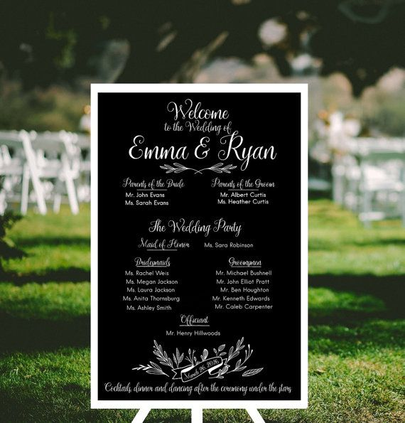 57 best fortudesigns wedding signs images on pinterest barn rustic wedding welcome sign chalk wedding party sign reception sign custom wedding party reception welcome program junglespirit Choice Image