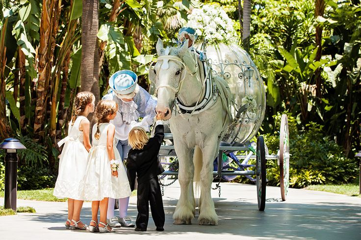 Sweet little attendants and Cinderella's royal ponies - could it get any cuter?