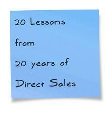 After working in Direct Sales for 20 years, I have found a ton of HAPPINESS and also a ton of HARD LESSONS. I have learned A LOT about this industry, and what works and what doesn't. I am sure that there are many more lessons than just 20…in fact, I …