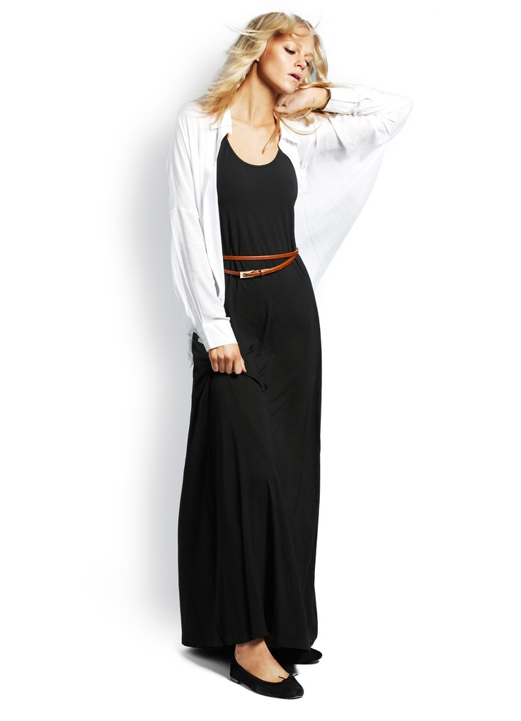 Seafolly Wish List Maxi and Foxy shirt - great Autumn outfit: Lists Maxi, Autumn Outfits, Maxis, Black Maxi, Foxy Shirts, Style Spring Summ