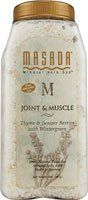 Mineral Bath Salts Joint and Muscle 2 lb by Masada Dead Sea Minerals. $11.37. 2 Pounds Granule. Joint & Muscle Bath Salts offer triple the therapy to help ease tight, aching muscles and joints. Even soothes arthritis pain. Dead Sea Minerals are infused with natural healing herbs and aromatic essences. Convenient, unbreakable 2 lb. jar has a pouch inside to hold herbs, keeping the bath clean.