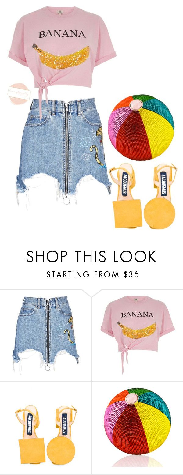 """Untitled #711"" by lexceptionallystyled ❤ liked on Polyvore featuring Marcelo Burlon, River Island, Jacquemus and Judith Leiber"