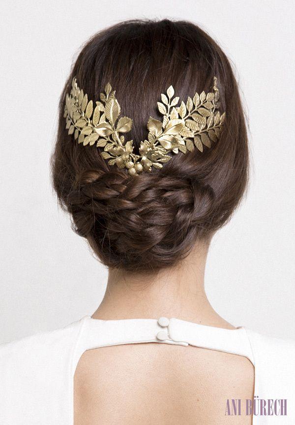 Acessório de cabelo grego! Um luxo!