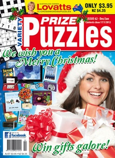 Variety Puzzles lets you enjoy the benefits of a specially selected range of puzzles for every occasion. Featuring a different type of quiz on every page, VARIETY PUZZLES is guaranteed to have something for everyone. Puzzles include Crosswords, Starhunts, Findawords, Wheel Words, Cluedunnits, Magic Squares, Starcross, Maxi, Spot-the Difference, Sudoku, Acrostics and lots more!