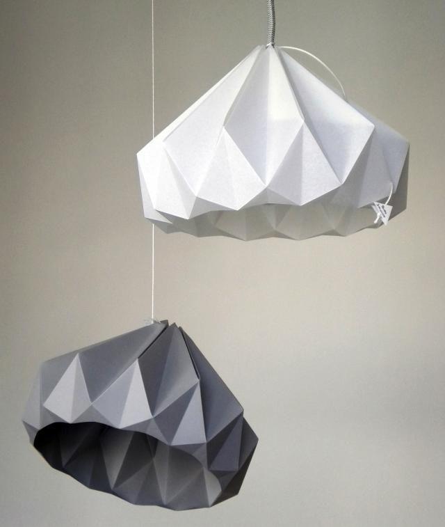 Fabulous Paper Pendant Light coffee filter light pendant lamp diy globe light east coast creative Origami Lights From Holland