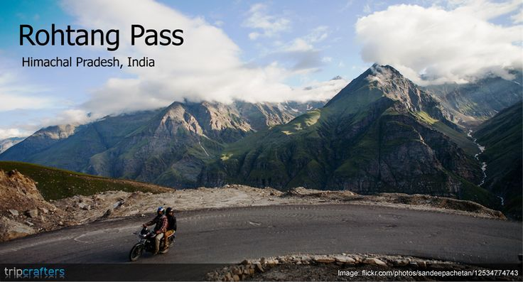 #Rohtang pass is a famous, spectacular road that connects the elusive Leh-Ladakh region with the rest of the country. Each year the pass is open from June to October. Check out more amazing places in #HimachalPradesh.