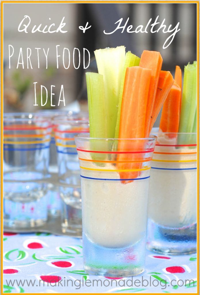 Easy and healthy snack or party food {Making Lemonade} #healthysnack #kidfriendly