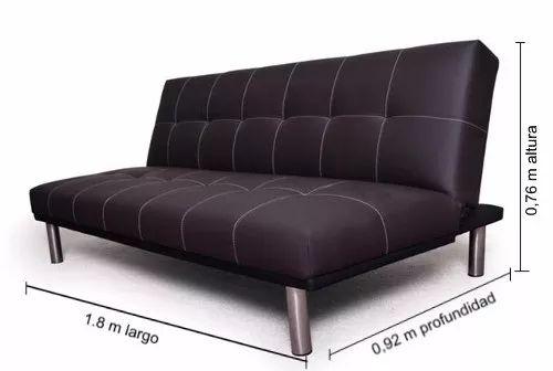 futon divan sillon cama 1 plaza 3 cuerpos. patas cromadas 07