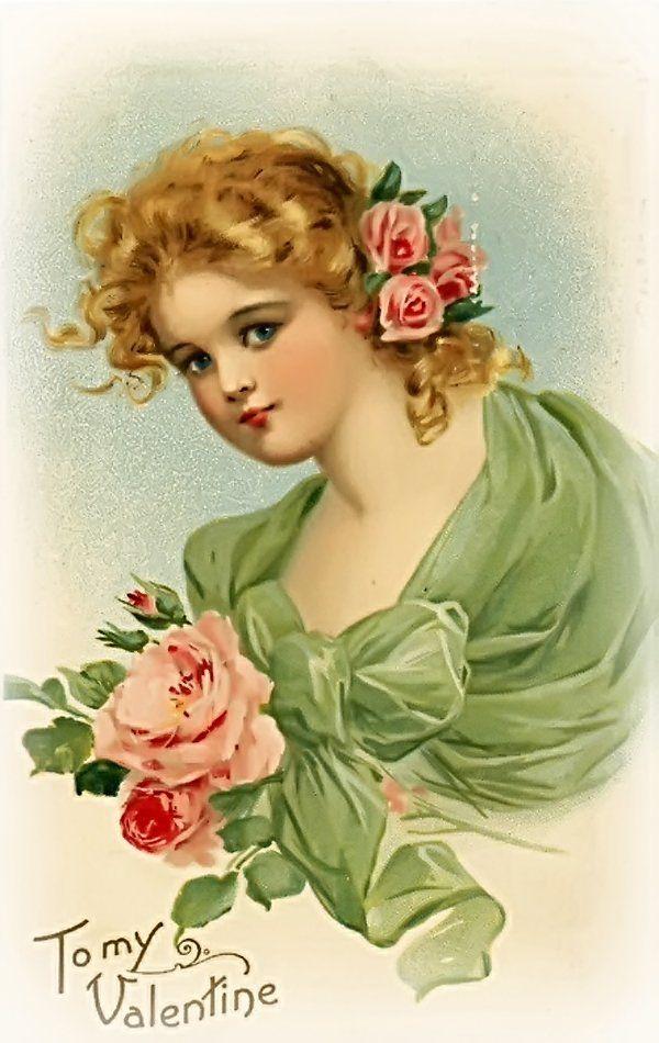 Картинки девушек на открытку