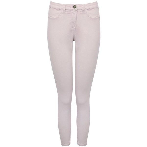 M&Co Petite Slim Leg Ankle Grazer Jeans (499.080 IDR) ❤ liked on Polyvore featuring jeans, lilac, pink denim jeans, pink jeans, slim jeans, summer jeans and petite denim jeans