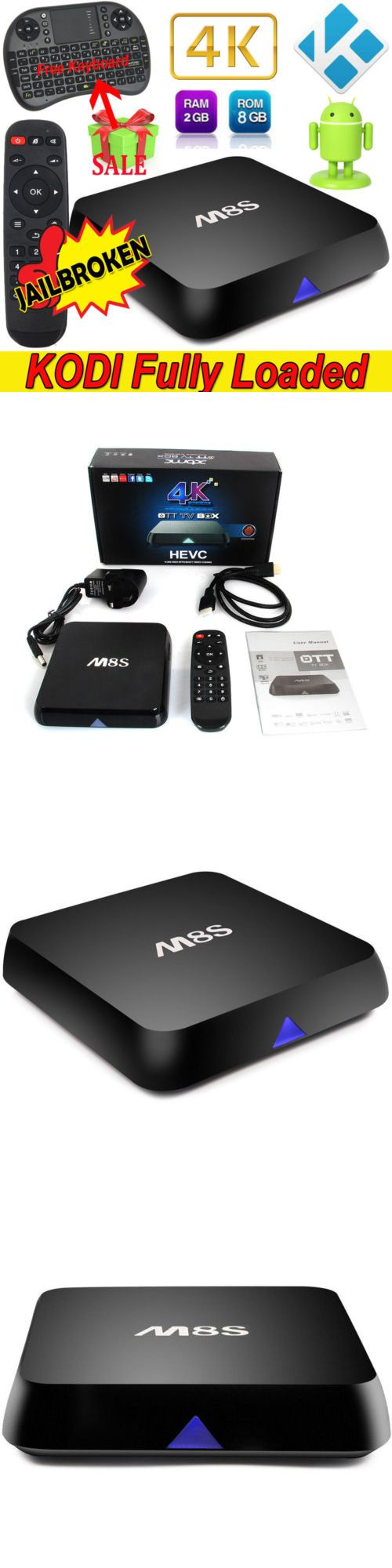 Cable TV Boxes: M8s 2G 8G 4K S812 Quad Core Android 4.4 Smart Tv Box Wifi Bt4.0+Free Keyboard -> BUY IT NOW ONLY: $58.58 on eBay!