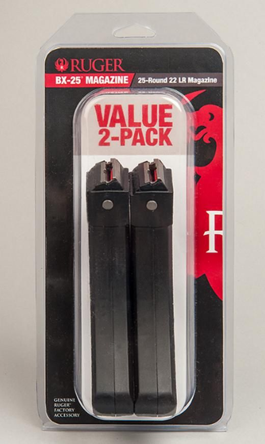 Ruger 10/22 Magazine BX-25 .22LR 25rd Black Value 2-Pack - $32.99   $6.65 S/H