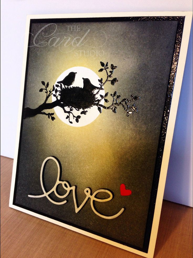 Handmade by Whitney, The Card Studio: Made with: Stampin' Up! World of Dreams, Expressions Thinlits Die, Black Embossing Powder