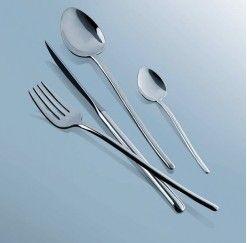 Cubertería Idurgo de 12 servicios y 113 piezas en acero inox.18/10, 4 mm de espesor, cuchillos monoblock y estuche incluido compuesta por: 12 cucharas de mesa, 12 tenedores de mesa, 12 cuchillos chuleteros, 12 cucharas de postre, 12 tenedores de postre, 12 cuchillos de postre, 12 tenedores de pescado, 12 palas de pescado, 12 cucharillas de café, 1 cazo de sopa, 1 cazo de salsas, 1 cucharón de servir, 1 tenedor de servir y 1 pala de tarta.