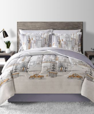Fairfield Square Collection New York Reversible 6-Pc. Twin Comforter Set Bedding