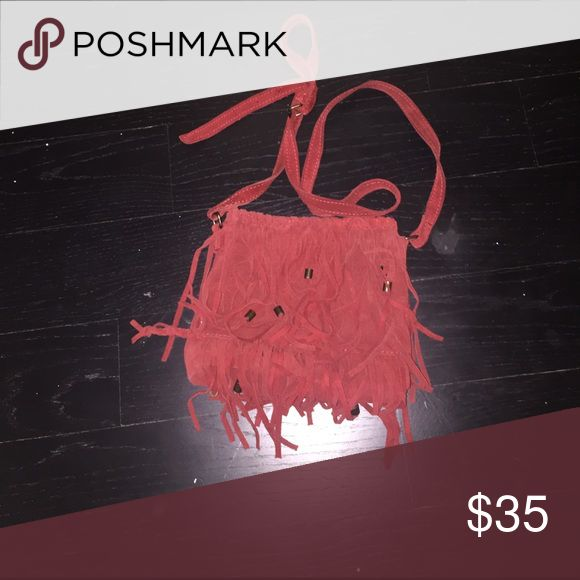 Zara Purse This fringe real suede purse is a must have! Zara Bags Crossbody Bags