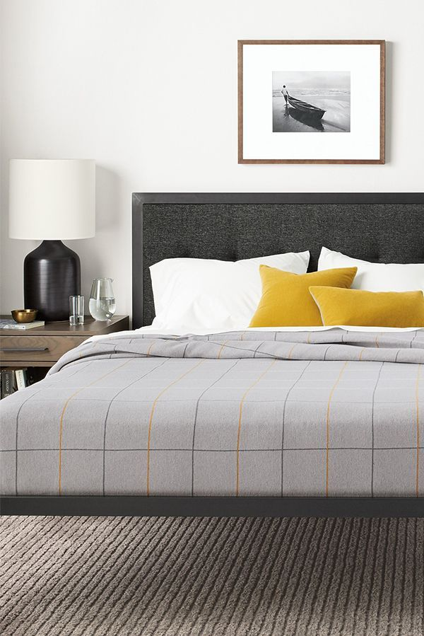 Chapman Upholstered And Steel Bed Modern Contemporary Beds