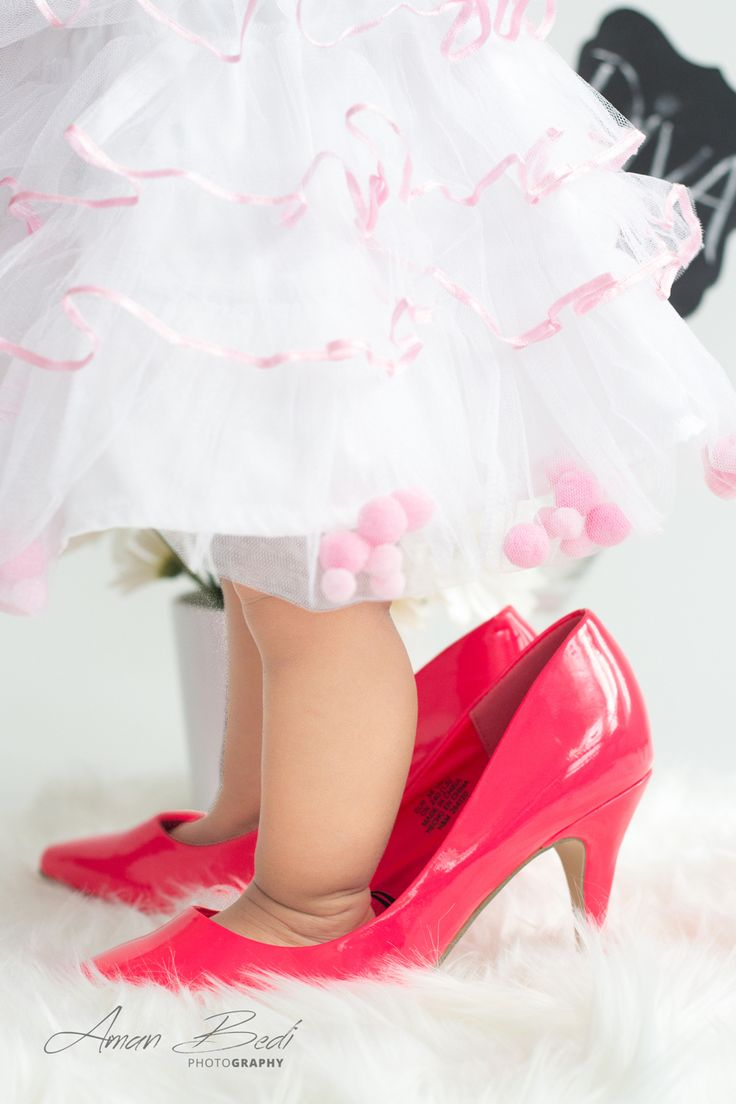 Baby girl pink shoes new born kids photography