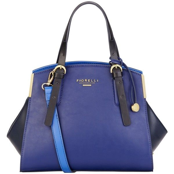 Fiorelli Bella Rose Grab Bag , Electric Blue/Multi ($92) ❤ liked on Polyvore featuring bags, handbags, shoulder bags, fiorelli, fiorelli handbags, blue shoulder bag, rosette handbag and rose purse
