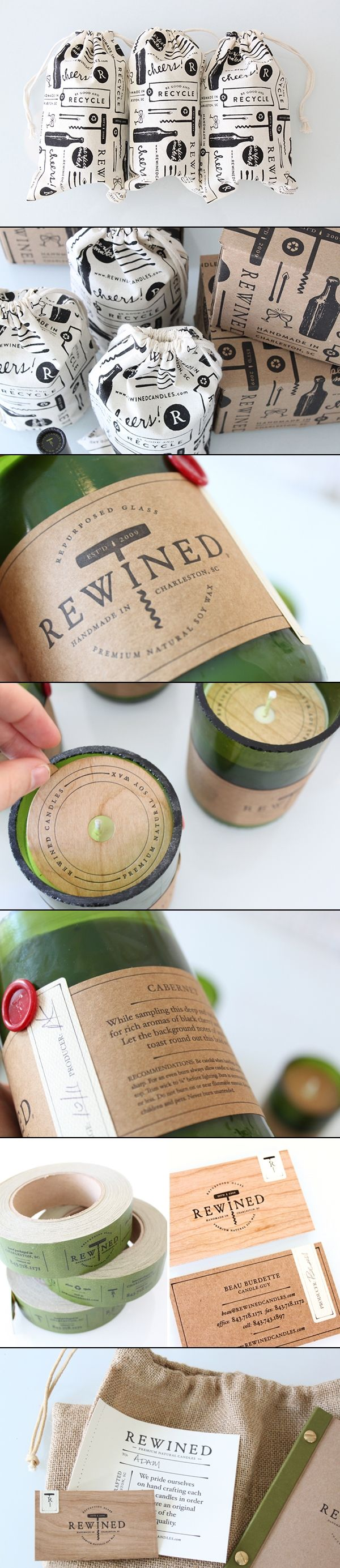 Packaging and Branding: Rewined Candles by Stitch