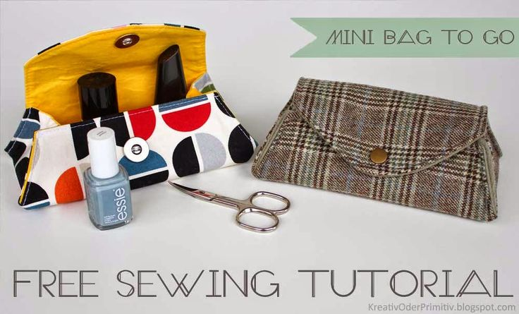 mini bag n hanleitung sewing tutorial free kosmetik tasche klein schnell einfach stoff diy. Black Bedroom Furniture Sets. Home Design Ideas