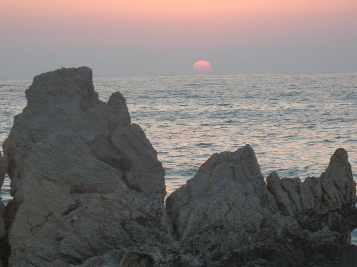 A beautiful sunset in the Ionian sea from the side of Kyparissia