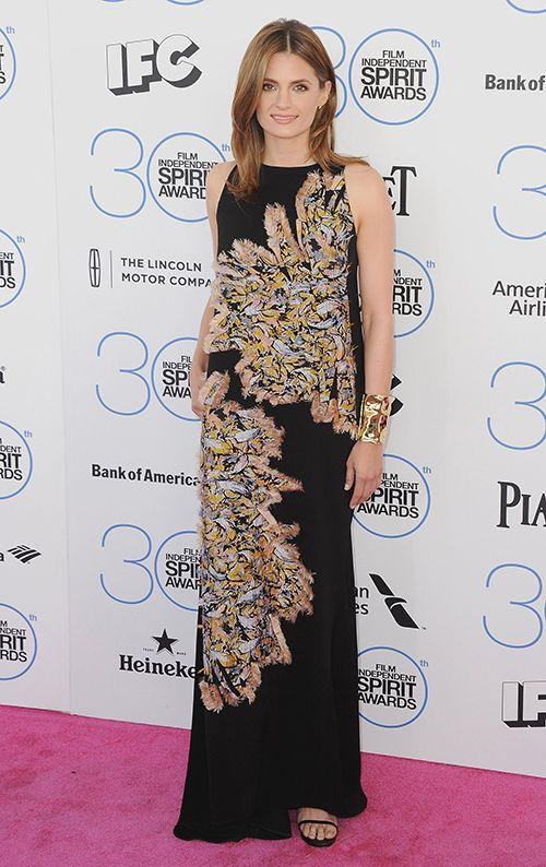 Stana Katic.....Beautiful, beautiful....and the dress, too!
