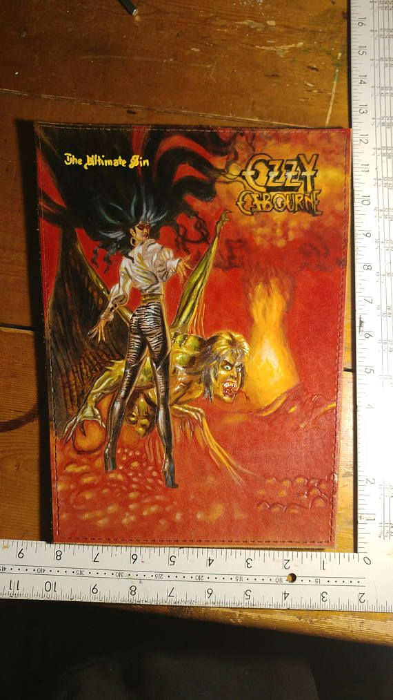 leather backpatch of Ozzy Osbourne's the ultimate sin