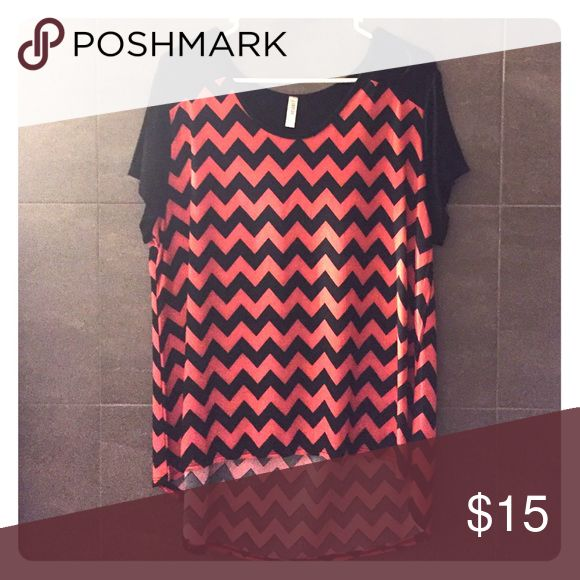 Black and pink Chevron shirt This shirt is very lightweight and great for summer. Tops