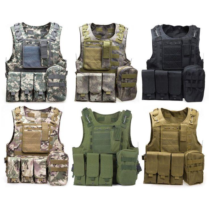2016 Chaleco de Caza de Camuflaje CS Wargame Chaleco Body Armor Molle Equipo Al Aire Libre de la Caza Táctico Militar 6 Colores