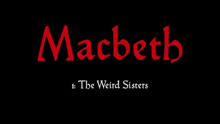 Macbeth and Banquo come across three strange creatures - the 'Weird Sisters'.