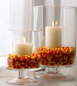 I love anything to do with candy corn. It's such a simple thing to decorate with so many ways!