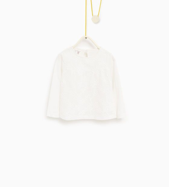 Image 1 of Large embroidered blouse from Zara