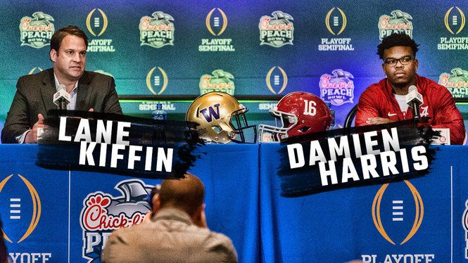 Hear what Lane Kiffin and Damien Harris had to say about preparing for Washington, Kiffin's new job
