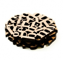 Type Coasters by Melk $40 for a set of 4