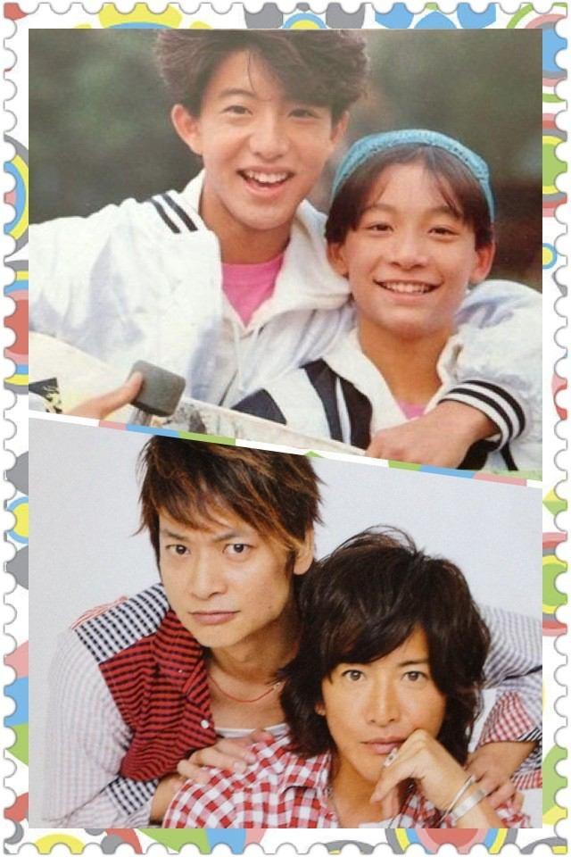 ☆SMAP☆ 木村拓哉 (Takuya Kimura) x 香取慎吾  (Shingo Katori) then & now.