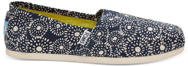 Toms Classic Navy Shibori Dots Womens Espadrilles Shoes