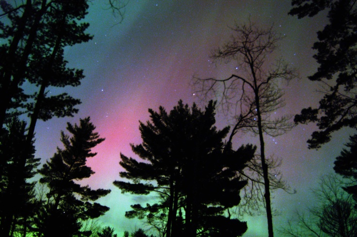 A once in a lifetime experience…  camping under the #Northern #Lights in Vilas County, #Wisconsin