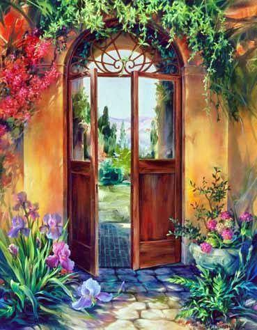 ART FINE~ Beyond The Door To The Back. . .